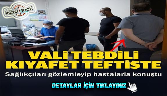 Zonguldak Valisi tebdili kıyafetle hastanelerde hasta gibi sıraya girdi: Hasta yakınlarıyla sohbet etti