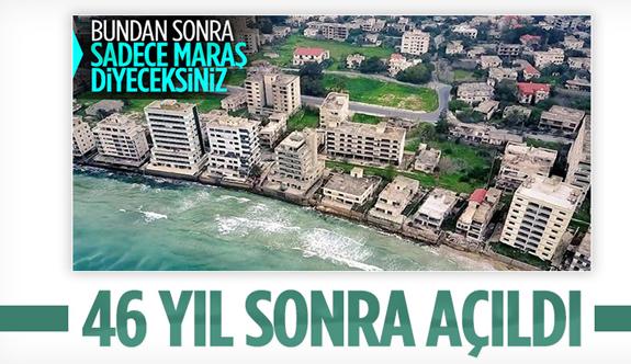 46 yıldır kapalı olan Maraş sahili açıldı