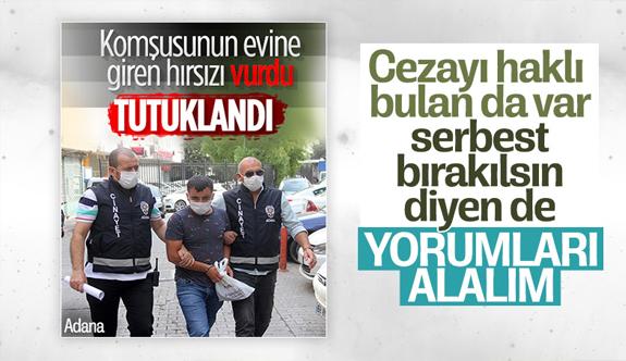 Adana'da hırsızı vuran şahıs tutuklandı