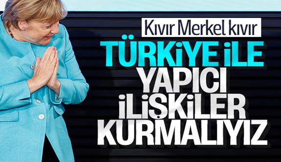 Almanya Başbakanı Angela Merkel: Türkiye ile yapıcı diyalog kurmamız gerekiyor