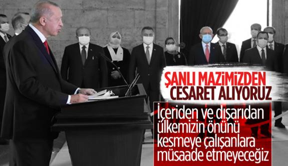 Cumhurbaşkanı Erdoğan: Saldırılar mücadele azmimizi güçlendirmektedir