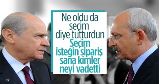 Devlet Bahçeli: CHP Genel Başkanı'nın seçim isteği sipariştir