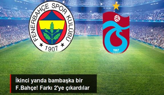 F.Bahçe'den müthiş geri dönüş! Trabzonspor'u net skorla mağlup ettiler
