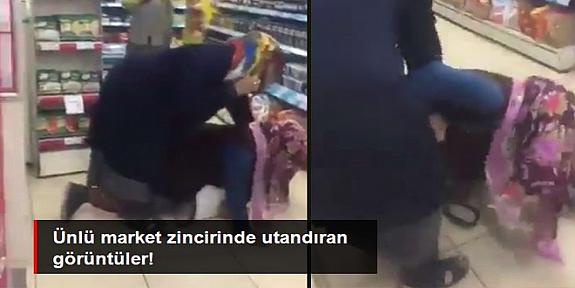 Korona kurallarını hiçe sayıp marketin ortasında düdüklü tencere kavgasına tutuştular