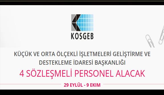 Kosgeb 4 sözleşmeli personel alımı yapacak iş ilanı iş başvurusu ve başvuru formu