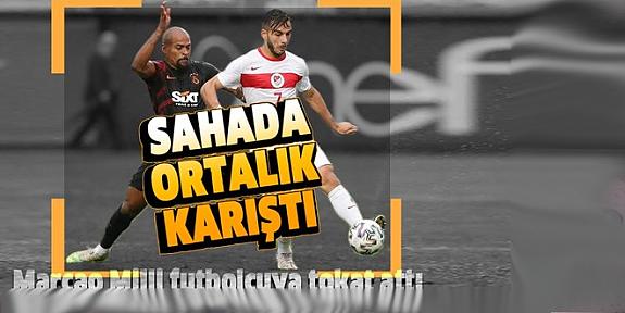 Marcao ümit milli futbolcu Halil Dervişoğlu'na tokat attı