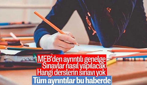 MEB'den yeni genelge: Sınavlar salgından önce olduğu gibi yapılacak
