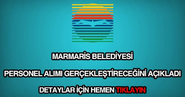 Muğla Marmaris Belediyesi 15 İşçi Alımı Personel Alım İlanı