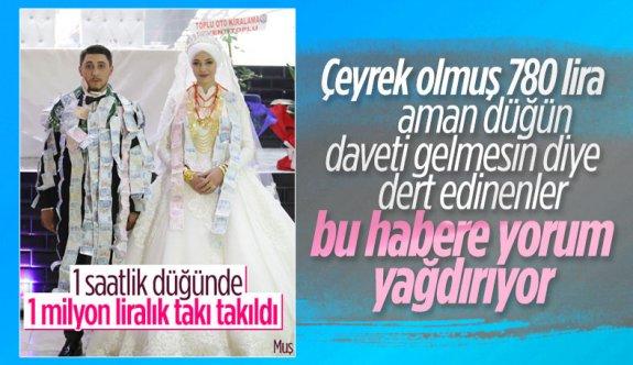Muş'ta aşiret düğününde 1 milyon lira takıldı