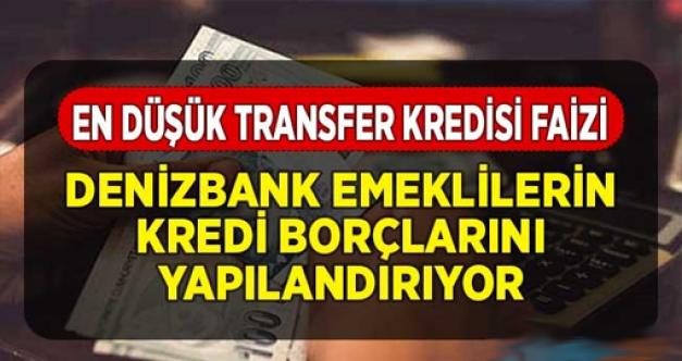 O bankadan emeklilere müjde! Borçları yapılandırıyor!