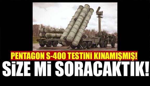 Pentagon'dan Türkiye'nin Deneme Atışlarıı yaptığı S-400 açıklaması!