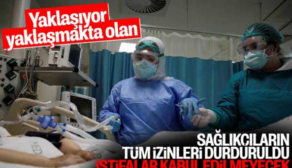 Şok Şok! Sağlık Bakanlığı'ndan sağlıkçılara istifa yasağı