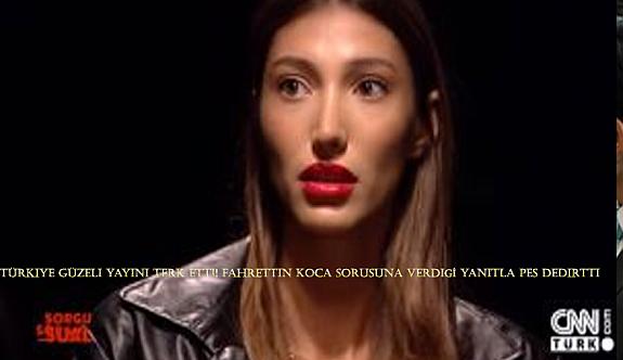 Türkiye Güzeli yayını terk etti! Fahrettin Koca sorusuna verdiği yanıtla pes dedirtti