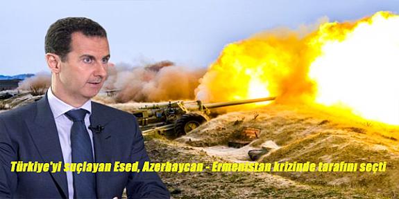 Türkiye'yi suçlayan Esed, Azerbaycan - Ermenistan krizinde tarafını seçti!