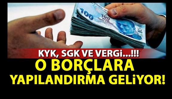 Vergi, SGK, KYK borcu ile trafik ve köprü cezaları yapılandırılacak Yasa Mecliste