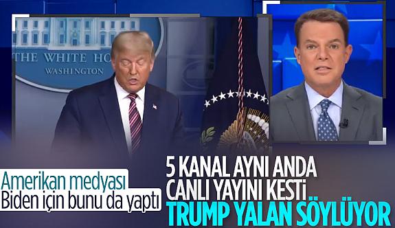 ABD kanalları Trump'ın canlı yayın konuşmasını kesti