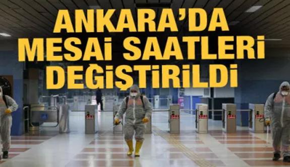 Ankara'da mesai saatleri değişti