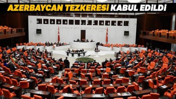 Azerbaycan'a asker gönderilmesine yönelik Cumhurbaşkanlığı Tezkeresi TBMM'de kabul edildi