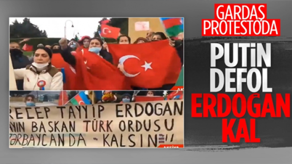 Azerbaycan'da Rus Barış Gücü'ne protesto