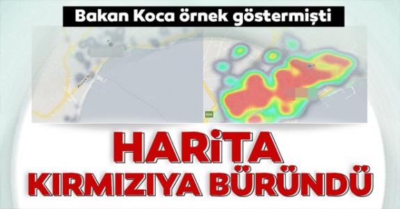 Bakanın örnek gösterdiği Tekirdağ için korkutan harita