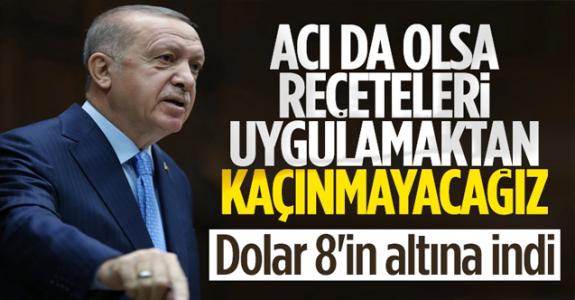 Cumhurbaşkanı Erdoğan'ın açıklamalarından sonra kurlarda düşüş başladı