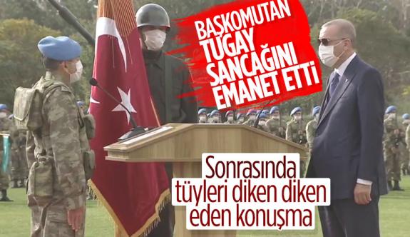 Cumhurbaşkanı Erdoğan sancak töreninde