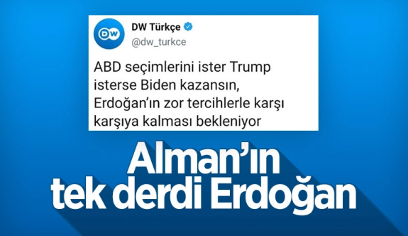 Deutsche Welle'den ABD seçimlerinde Erdoğan paylaşımı