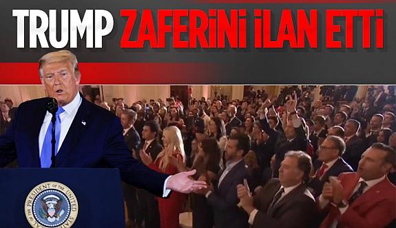 Donald Trump, seçim sonrası Beyaz Saray'da açıklama yaptı