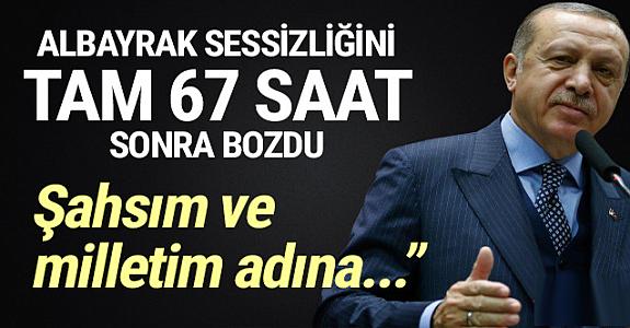 Erdoğan 'Berat Albayrak' sessizliğini bozdu