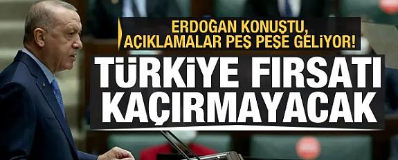 Erdoğan konuştu, açıklamalar peş peşe geliyor