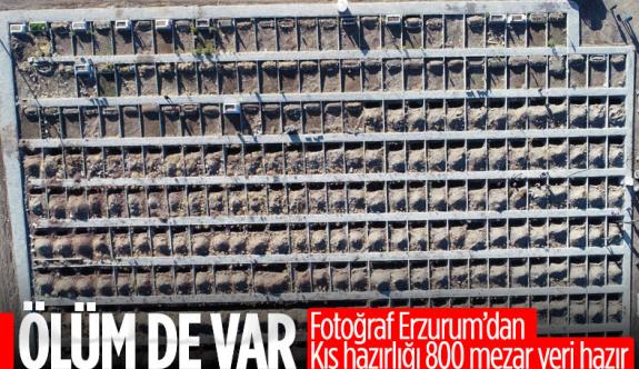 Erzurum'da toprak donması nedeniyle kış öncesi 800 mezar kazılıyor