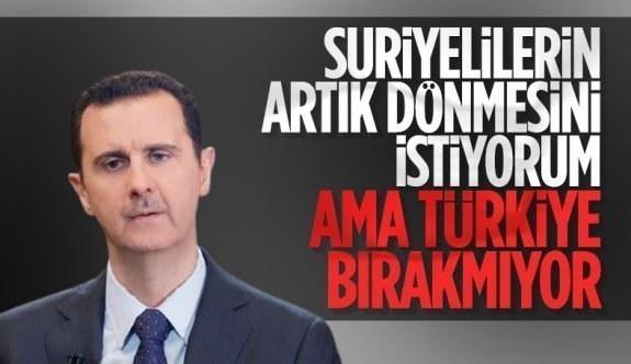 Esad: Suriyelilerin dönüşünü Türkiye engelliyor