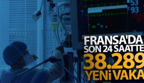 Fransa'da son 24 saatte 38 bin 289 yeni vaka tespit edildi