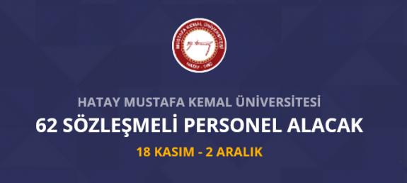 Hatay Mustafa Kemal Üniversitesi 62 Personel alımı yapacak İş ilanları ve iş başvurusu