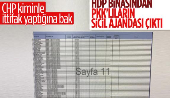 HDP binasından PKK'nın kaçırdığı çocukların bilgileri olan ajanda çıktı