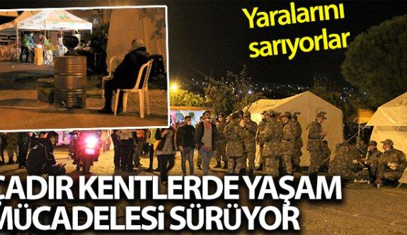 İzmir Çadır kentlerde yaşam mücadelesi sürüyor
