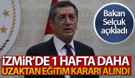 İzmir'de 1 hafta daha uzaktan eğitim kararı alındı