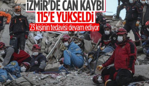 İzmir depreminde hayatını kaybedenlerin sayısı 115'e yükseldi