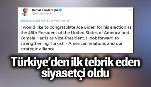 Kılıçdaroğlu'ndan Joe Biden'a kutlama mesajı