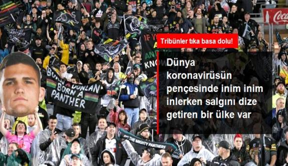 Koronavirüsü dize getiren ülkede vatandaşlar tıka basa dolu tribünde maç izledi