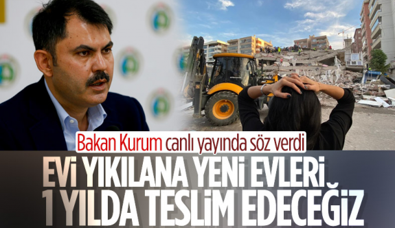 Murat Kurum: Evi az hasarlı olan vatandaşlar evlerine girebilir