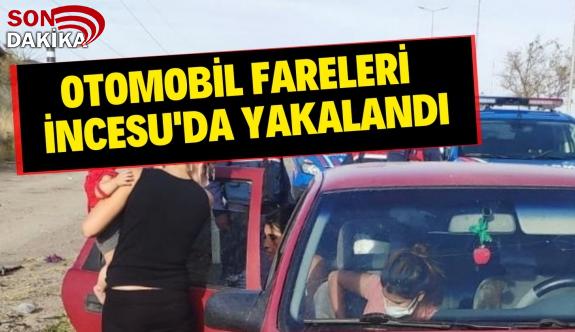 Otomobil Fareleri İncesu'da Yakalandı