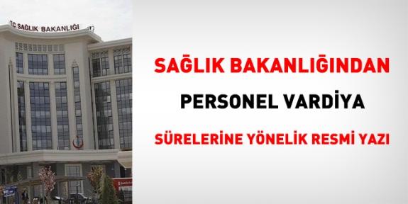 Sağlık Bakanlığı: Personel vardiyaları 14 günlük düzenlensin