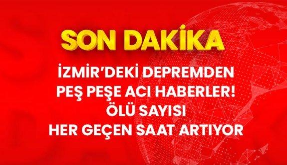 Son Dakika: İzmir'de meydana gelen 6,6 büyüklüğündeki depremde ölü sayısı 60'a yükseldi