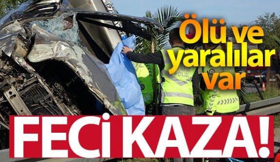 Trabzon'da feci kaza! 1 ölü, 4 yaralı