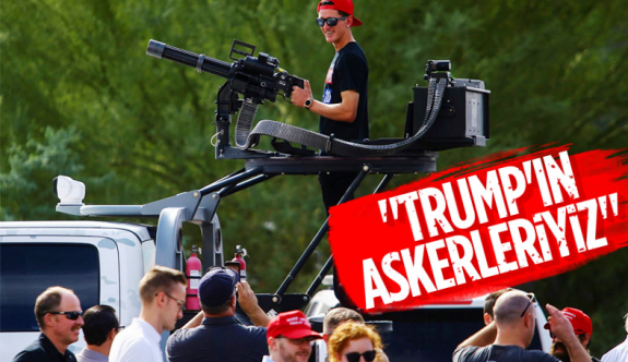 Trump destekçileri ağır silahlarla sokaklarda