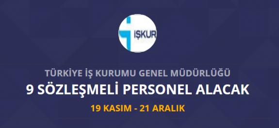 Türkiye İş Kurumu İŞKUR 9 personel alımı yapacak İŞKUR iş ilanları ve iş başvurusu