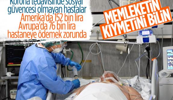 Türkiye korona tedavisinde sosyal devlet anlayışını ortaya koydu