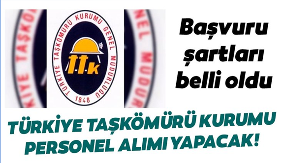 Türkiye Taşkömürü Kurumu personel alımı! Personel alımı başvuru şartları belli oldu