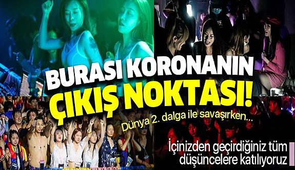 Vuhan'da Cadılar Bayramı partisi